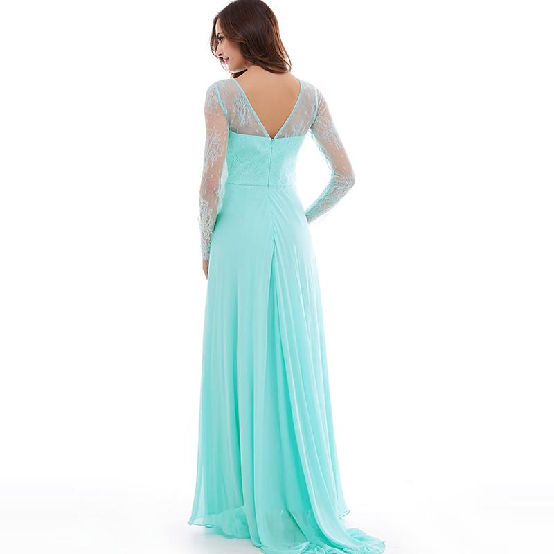 tyrkysové společenské šaty s rukávy krajkové - plesové šaty ... c0ca13fec25